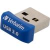 """Verbatim Pendrive, 64GB, USB 3.0, 80/25MB/sec, VERBATIM """"NANO STORE 'N' STAY"""""""