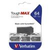 "Verbatim Pendrive, extra ellenálló, 64GB, USB 2.0, VERBATIM ""ToughMAX"", fekete"