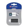 "Verbatim USB drive Verbatim USB 2.0 64GB 10/4 MB/s ""PinStripe"" fekete"