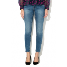 Vero Moda , Mella slim fit farmernadrág, Mosott kék, M-L32 (10201808-MEDIUM-BLUE-DENIM-M-L32)