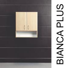 Vertex Bianca Plus 60-as Faliszekrény 2 ajtóval, nyitott alsó résszel, aida dió színben bútor