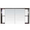 Vertex Capri fürdőszoba bútor felső szekrény 120 cm, Aida dió