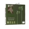 Vezetékes sztereó fülhallgató, 3.5 mm, cipőfűző minta, Como, M8, zöld