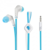 Vezetékes sztereó fülhallgató, 3.5 mm, felvevőgombos, JD88, kék/fehér