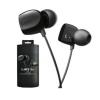 Vezetékes sztereó fülhallgató, Jays Two Dynamic, 3,5 mm jack, fekete