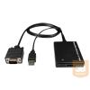 VGA+USB - HDMI converter, lengőkábeles