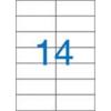 VICTORIA Etikett, univerzális, 105x42,4 mm, VICTORIA, 1400 etikett/csomag [100 lap]