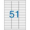 VICTORIA Etikett, univerzális, 70x16,9 mm, VICTORIA, 5100 etikett/csomag [100 lap]