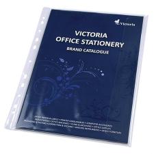 VICTORIA Genotherm, lefűzhető, oldalán hajtófüllel, A4, 150 mikron, víztiszta, VICTORIA lefűző