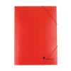 VICTORIA Gumis mappa, karton, A4, VICTORIA, piros