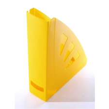 VICTORIA Iratpapucs, műanyag, 75 mm, VICTORIA, sárga irattartó