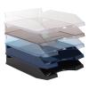 VICTORIA Irattálca, műanyag, VICTORIA, áttetsző kék