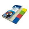 VICTORIA Jelölőcímke, műanyag, 4x40 lap, 20x50 mm, VICTORIA, vegyes szín