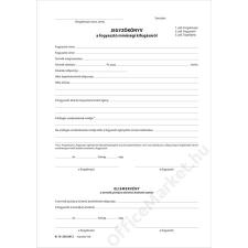 VICTORIA Nyomtatvány, jegyzőkönyv a fogyasztó minőségi kifogásáról, 25*3, A5, VICTORIA, B.13-233 (NVB13233) nyomtatvány