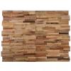 vidaXL 10 db újrahasznosított tíkfa falburkoló panel 1 m²