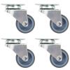vidaXL 16 db dupla kerekes önbeálló görgő 50 mm
