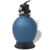 vidaXL 18 inch/460 mm kerek homokszűrő medencéhez kék