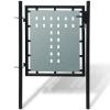 vidaXL 1 ajtós kapu 100 x 125 cm fekete