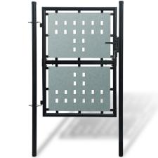 vidaXL 1 ajtós kapu 100 x 225 cm fekete építőanyag