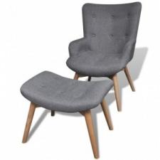 vidaXL 241673  szürke szövet fotel lábzsámollyal bútor