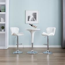 vidaXL 2 db fehér műbőr bárszék kerti bútor