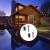 vidaXL 2 db meleg fehér fényű napelemes LED fényfüzér (2x40698)