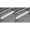 vidaXL 2db lineáris rozsdamentes acél hullám zuhany lefolyó 830x140mm