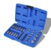 vidaXL 34 darabos Bit dugókulcs készlet táskával
