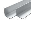 vidaXL 4 db alumínium L-profil (szögidom) 30x30x2mm, 2 m