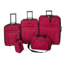 vidaXL 5 Darabos Utazási Csomag Készlet (Piros)