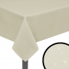 vidaXL 5 db 130x130 cm krém asztalterítő