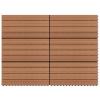 vidaXL 6 darab barna WPC csempe 60 x 30 cm 1 m²