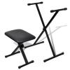 vidaXL Állítható billentyűzet állvány és szék készlet