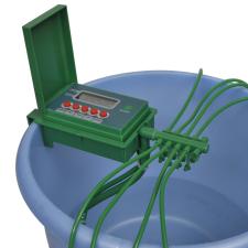 vidaXL Automata öntözőrendszer vízpermetezővel és időzítővel öntözéstechnikai alkatrész
