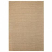 vidaXL Bézs, szizál hatású beltéri/kültéri szőnyeg 120 x 170 cm lakástextília