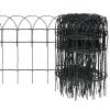 vidaXL Bővíthető Pázsit Szegélyező Határ Kerítés 25 x 0,4 m