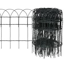vidaXL Bővíthető Pázsit Szegélyező Határ Kerítés 25 x 0,4 m építőanyag