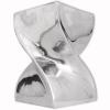 vidaXL Csavart alakú zsámoly/kisasztal alumínium ezüst színben