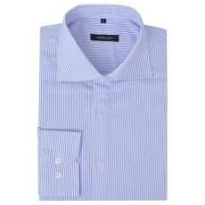 vidaXL Csíkos fehér és világoskék XXL méretű üzleti férfi ing