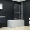 vidaXL ESG zuhanykabin 2 paneles összecsukható ajtóval 95 x 140 cm