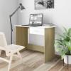 vidaXL Fehér és sonoma-tölgy íróasztal fiókokkal 100 x 50 x 76 cm
