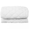 vidaXL Fehér steppelt könnyű matracvédő 160 x 200 cm