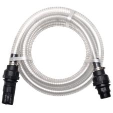 vidaXL fehér szívótömlő csatlakozókkal 4 m 22 mm öntözéstechnikai alkatrész
