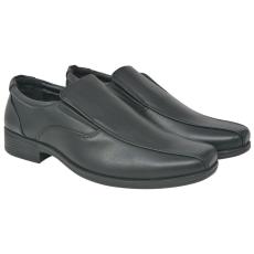 vidaXL Fekete, férfi, PU bőr félcipő fekete 44-es méret