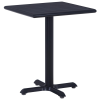 vidaXL fekete kerti asztal 60 x 60 x 75 cm