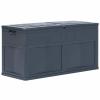 vidaXL fekete kerti tárolóláda 320 L