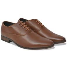 vidaXL Férfi, fűzős business cipő, barna 41-es méret PU bőr