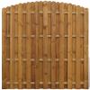 vidaXL Függőleges Fa kerítés panel íves tervezés