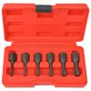 vidaXL hat darabos csavarkihúzó készlet acél