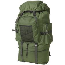 vidaXL katona stílusú hátizsák 100 L XXL zöld hátizsák
